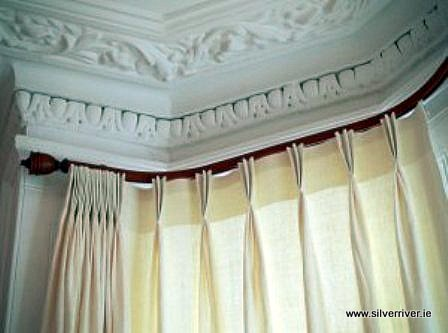 Curtain rails for awkward windows